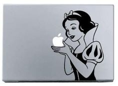 snow white fun macbook sticker charm macbook decal by bandecal