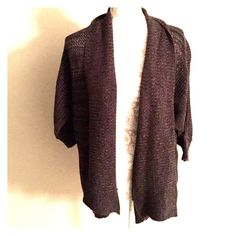 3/4 sleeve cardigan Black and gray in excellent condition AB Studio Sweaters Cardigans