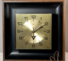 Mid Century Modern Lux Robert Shaw Electric Wall Clock