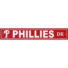 "Philadelphia Phillies Street Sign - 4'x24"""