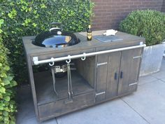 Handmade Mobile Outdoor Kitchen with a Weber Master Touch GBS System Edition BBQ