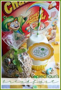 St. Patrick's Day Breakfast & Free Printable... So cute!