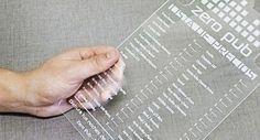 Carta Menú realizada en acrílico transparente - PROTIVO   Diseño Gráfico