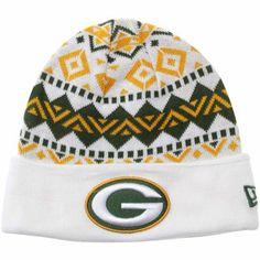 New Era Green Bay Packers Ivory Cuffed Knit Beanie - White/Green/Gold SO SO SO SO CUTE!!!