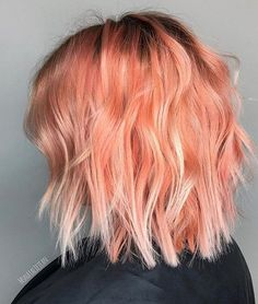 Peachy keen on this colour #joicointensity #colorintensity #joico #peachhair #pastelbalayage