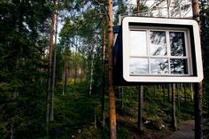 """The Cabin"" at Treehotel in Harads, Sweden. Designed by  Martin Videgård and Bolle Tham"