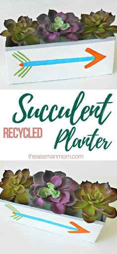 DIY SUCCULENT PLANTER - These DIY succulent planter holders are so creative, trendy and fun you won't be able to stop at just one, you'll want to whip up a whole bunch of theserecycled planter ideas! These easy peasysucculent containers are such a beautiful way to decorate on a budget!  #easypeasycreativeideas #succulent #succulentlove #homedecor #handmade #decor #decorideas #recycle #recycling #recycled #planter #diy #diyproject #paper #papercraft #papercrafting #craft #crafting #crafts