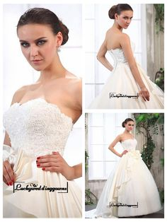Alluring Tulle & Satin Ball gown Sweetheart Neckline Empire Waist Floor-length Wedding Dress with Lace Appliques http://www.ckdress.com/alluring-tulle-satin-ball-gown-sweetheart-neckline-empire-waist-floorlength-wedding-dress-with-lace-appliques-p-1535.html  #wedding #dresses #party #Luckyweddinggown #Luckywedding #design #style #weddingdresses #bridaldresses #love #me #cute #beautiful #girl #shopping #lovely #clothes #instagood #follow #fashion