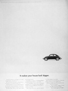 The legendary VW ad campaign of the 1960's by New York's Doyle Dane Bernbach – How many brilliant ways can you sell a car?