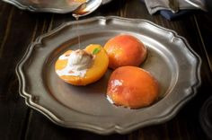 Bourbon Poached Peaches