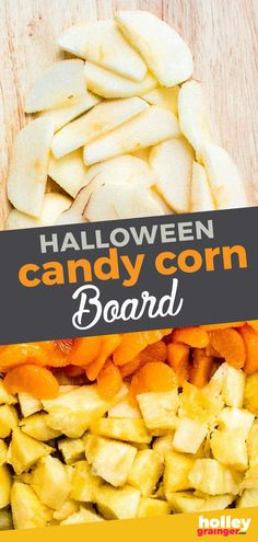 This Candy Corn Fruit Board is the perfect recipe for busy moms who are looking for something fun, healthy and delicious to bring to the next Halloween party. This fun, fruity twist on traditional candy corn, use peeled apples, mandarin oranges and pineapple to make a Candy Corn Fruit Board for your Halloween festivities. A Must make Halloween recipe! | Holley Grainger - Cleverful Living Healthy Meals For Kids, Kids Meals, Healthy Snacks, Healthy Recipes, Healthy Halloween, Halloween Party, Halloween Recipe, Creole Recipes, Easy Snacks