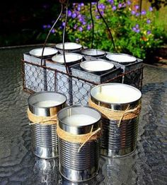 DIY Tutorial on How to Make Citronella Candles for the garden via Garden Therapy. I need citronella candles Citronella Candles, Diy Candles, Homemade Candles, Outdoor Candles, Citronella Oil, Candle Wax, Scented Candles, Making Candles, Garden Candles