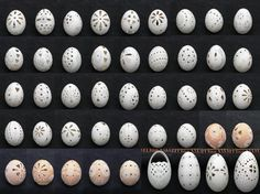 wish this site was in English Must try. Egg Decorating, Holiday Decorating, Carved Eggs, Egg Art, Egg Shells, Art Techniques, Easter, Carving, Nests