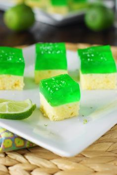 Margarita Cake-n-Jello Shots!  Perfect for Cinco de Mayo!