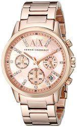 Armani Exchange Women's AX4326 Analog Display Analog Quartz Rose Gold Watch