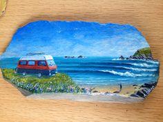 Acrylic on slate Slate, Paintings, Art, Landscapes, Art Background, Chalkboard, Painting Art, Painting, Kunst