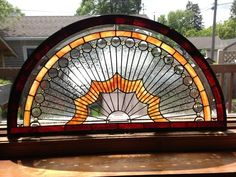 Beveled Sun Burst Arch Window