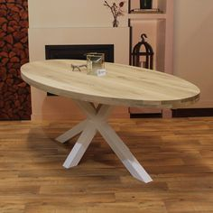 Eettafel ovaal eiken hout - Matrix tafelonderstel Sweet Home, Dining Table, Furniture, Home Decor, Dining Room, Decoration Home, House Beautiful, Room Decor, Dinner Table