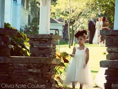 The is the dress Fin will wear at Mitch's wedding---can't wait! Little Girl Dresses by OliviaKateCouture on Etsy