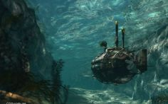 Steampunk Sub Navigates the Shallows Author: Phillip Drawbridge