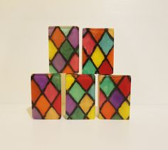"""The final product ... """"Bejeweled"""" Cube, Challenges, Soap, Bar Soap, Soaps"""