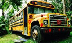 This eco-retreat lets you sleep on a tricked out school bus in the Hawaiian jungle - Posted on Roadtrippers.com!