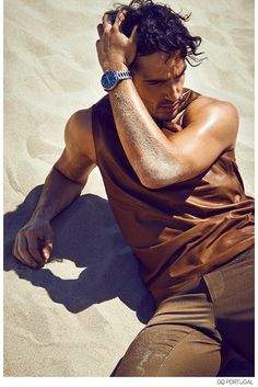 Andre Costa Luxuriates in Summer Fashion Editorial for GQ Portugal image Andre Costa GQ Portugal Fashion Editorial 003
