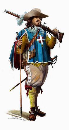 """""""Mosquetero francés de la Guardia del Rey 1630"""""""
