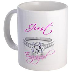 Just Married and Just Engaged Mug Mug by CafePress CafePress,http://www.amazon.com/dp/B00D5YVXW2/ref=cm_sw_r_pi_dp_OjsBsb0FZ9NCB21A