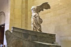The famous sculpture Winged Victory of Samothrace can be found in the Louvre museum in Paris.