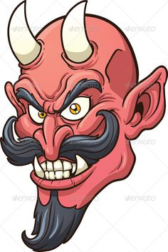 Devil Head by memoangeles Smiling devil head. Vector clip art illustration with simple gradients. All in a single layer.