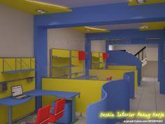 Attractive reception interior design and workspace - Interior Design   Exterior Design   Office Design   Home Design