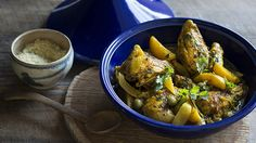Chicken tagine | This is a traditional Moroccan dish, designed to be prepared in a tagine, a special earthenware pot shaped with a wide but shallow base and a conical lid. If you don't have a tagine, an ordinary pot will do. In this recipe, we use classic Moroccan ingredients of olives and preserved lemon.