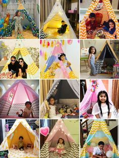 Teepee Tents for Kids Room Kids Teepee Tent, Play Tents, Tent House For Kids, Turquoise Chevron, Teepee Party, Tent Sale, The Good Dinosaur, Pink Stars, Kids Room