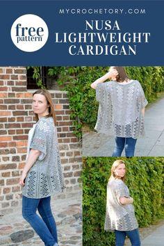 Crochet Tunic, Crochet Cardigan Pattern, Crochet Jacket, Cotton Crochet, Knit Or Crochet, Crochet Clothes, Free Crochet, Crochet Sweaters, Crochet Summer
