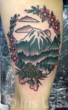 Simple Mountain Tattoo, no pine cone, just big waves. Piercings, Piercing Tattoo, 1000 Tattoos, Neue Tattoos, Body Art Tattoos, Tattoo Drawings, Pretty Tattoos, Beautiful Tattoos, Cool Tattoos