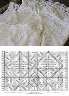 - Her Crochet Lace Knitting Patterns, Crochet Beanie Pattern, Knitting Charts, Lace Patterns, Knitting Stitches, Free Knitting, Knit Crochet, Knit Lace, Dress Patterns