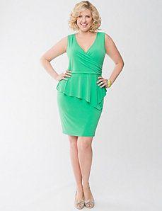 Peplum Dress, Sizes 14-28W