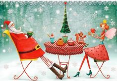 Holiday artist Illustration by www.MilaMarquis.com and www.Facebook.com/MilaMarquisillustration
