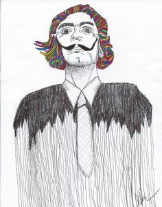 DALI Medium: pen and paint markers. Megan Brubaker University of California, Santa Cruz @UC Santa Cruz  #Dali, #Art, #Drawing, #Painting | thePortfolium.com