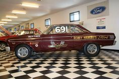 Remarkable Popularity Of Vintage Posters Cool Car Pictures, Nhra Drag Racing, Old Race Cars, Mustang Fastback, Ford Fairlane, Ford Falcon, Vintage Race Car, Drag Cars, Car Ford
