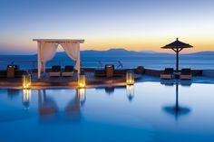 Mykonos Grand Hotel Resort A balcony on the sea http://www.amenityadvisor.com/wp/mykonos-grand/
