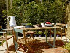 Albee teak furniture range for more permanent furniture in the garden. #Habitat