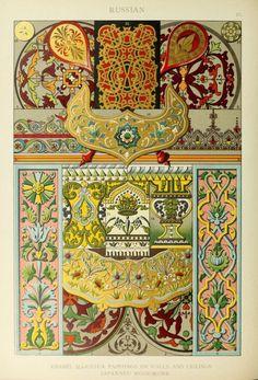 "nemfrog: "" ""Russian. Enamel majolica paintings on walls and ceilings."" Ornamental treasures. 1912. """
