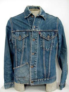 1970s men's Levis Type III 'Big E' denim jacket