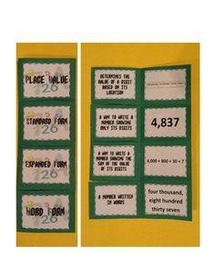 Primary Place Value Foldable - Janet Rainey - TeachersPayTeachers.com