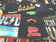 Official merch, Band t-shirts, Headwear <3  #AC/DC #TheBeatles #SuicideSquad