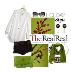 """""""Chic Holiday Style with The RealReal: Contest Entry"""" by jennifer ❤ liked on Polyvore featuring Madewell, Kate Spade, Jil Sander, T By Alexander Wang, Chanel, Oliver Peoples, Missoni and Loro Piana"""