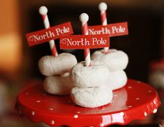 North Pole Christmas Donut Treats #northpole #treats