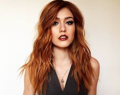 @Kat_McNamara: Ruby hair & rust lips for press day with my luvs @allanface & @chrisdylanhair